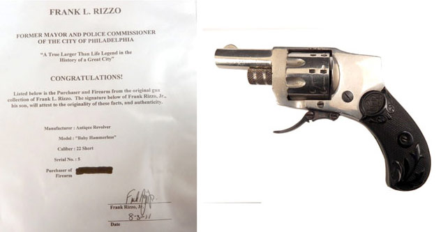 Baby Hammerless .22 short caliber revolver previously owned by Frank Rizzo, via Stephenson's Auction