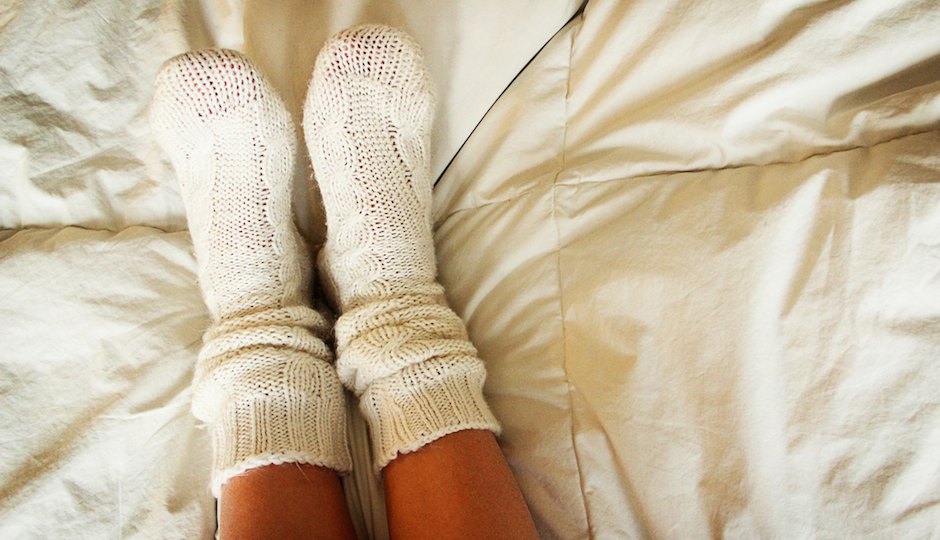 why you should sleep with your socks on philadelphia magazine. Black Bedroom Furniture Sets. Home Design Ideas