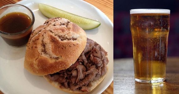 JG Domestic's Beef on Weck and german style lager