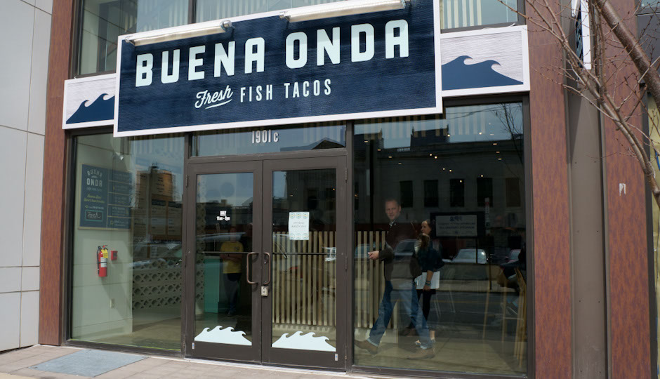 Buena Onda – Fresh Fish Tacos opens on Monday, March 16th.