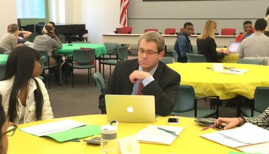 Bill Green, last week at district headquarters after Gov. Wolf removed him from SRC chairmanship.