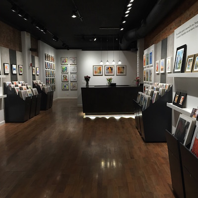The gallery space on 13th Street in Midtown Village.