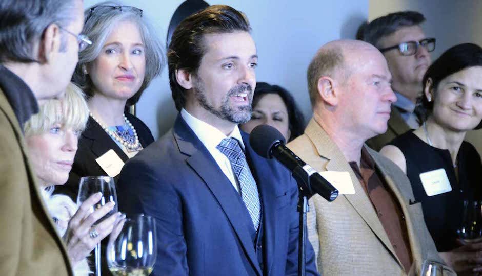 Pennsylvania Ballet Artistic Director Ángel Corella greets supporters and press to the announcement of the 2015-2016 season.