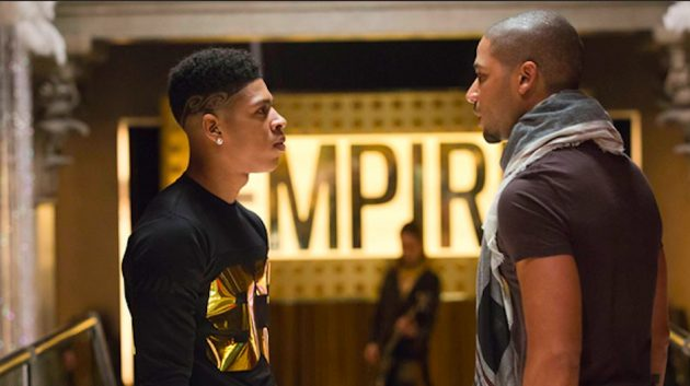 Jussie Smollett, right, with Yazz in a scene from Empire.