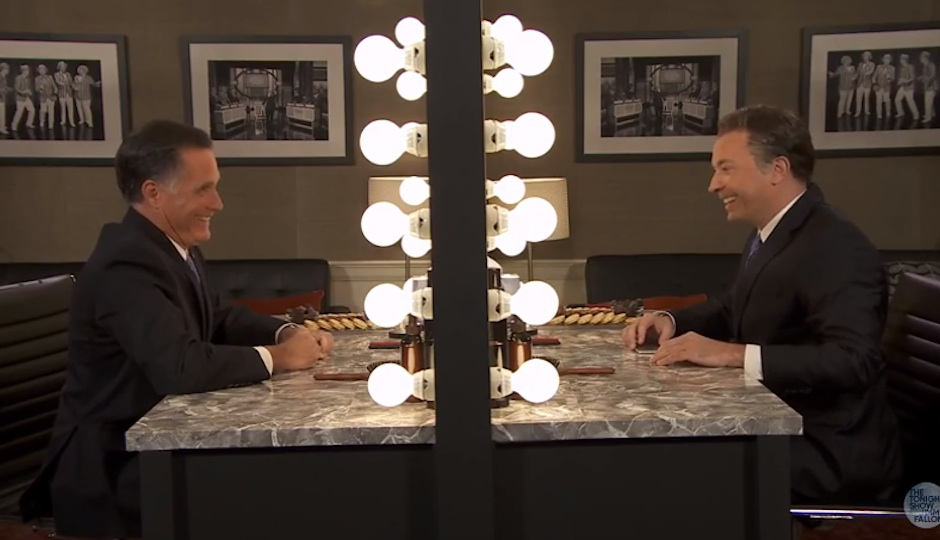 Fallon as Romney