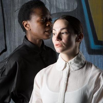 Zainab Jah and Sarah Gliko in 'Hamlet.'
