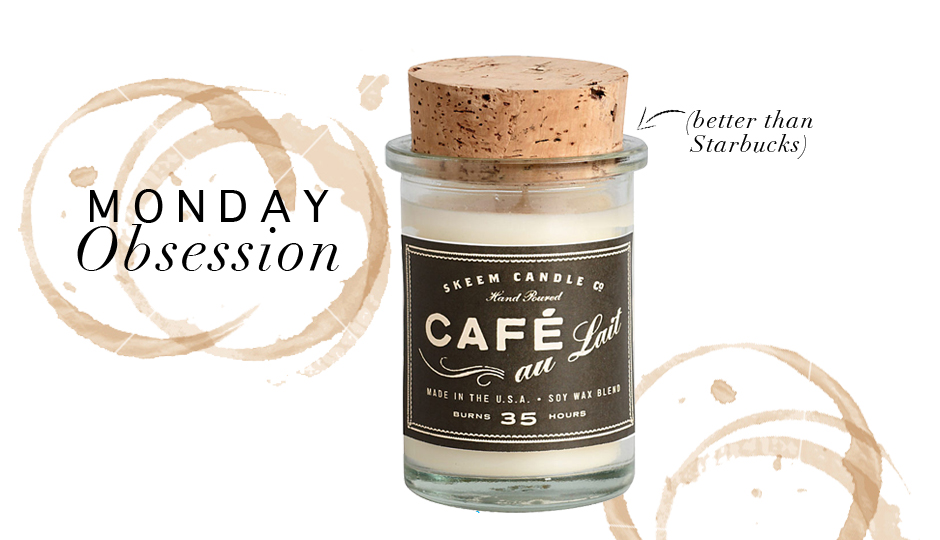 Monday Obsession: Skeem's Custom Coffee Candle for Paper Source
