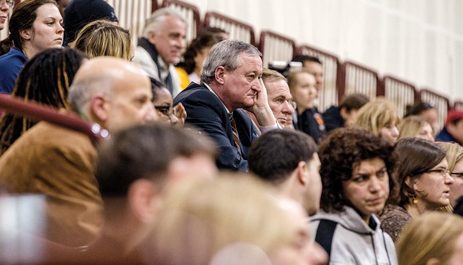 Kenney at the Neumann-Goretti game. Photograph by Christopher Leaman