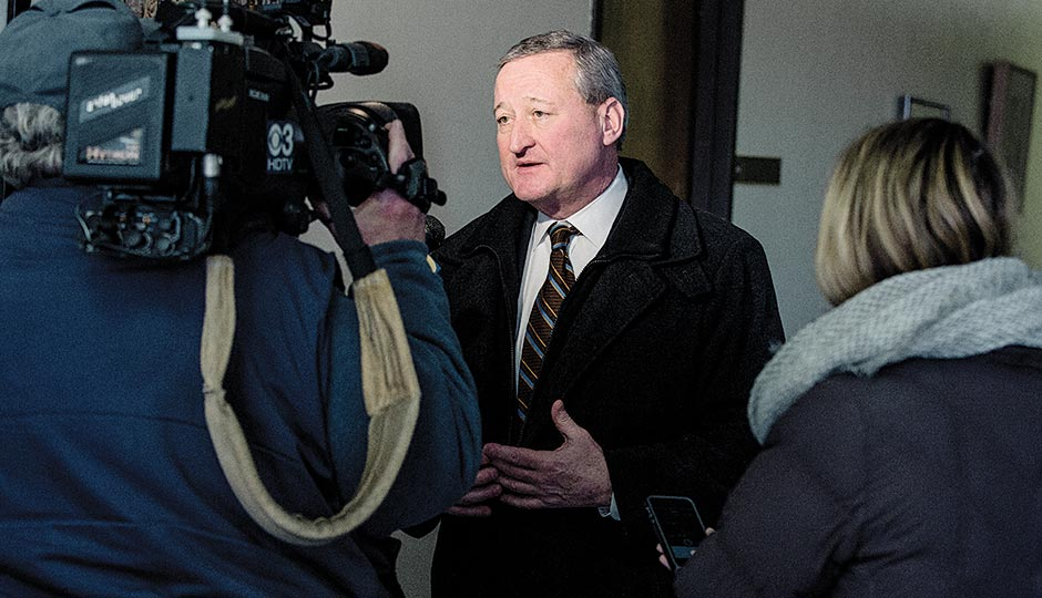 Kenney facing the cameras. Photograph by Christopher Leaman