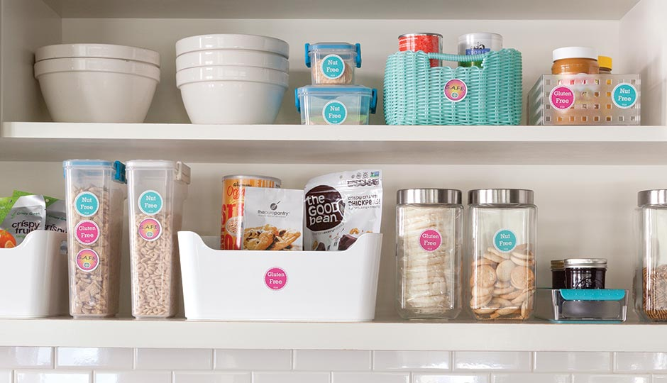 Cluttershrink's Crystal Sabalaske whips kitchens into shape with expert organization and colorful labels. Photograph by Courtney Apple