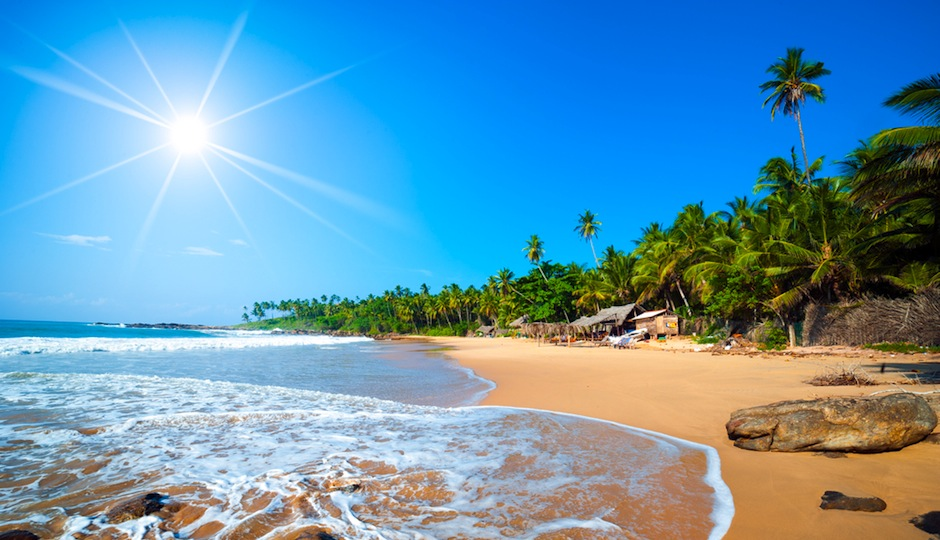 Imagine lounging on the beach in Sri Lanka. Shutterstock.