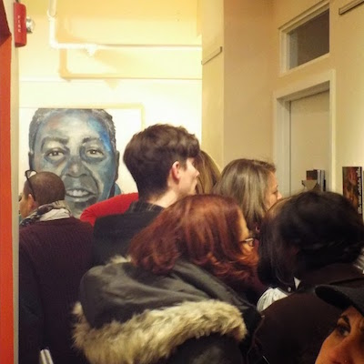 """From the opening of """"RELEASE,"""" a new exhibit now on display at the Leeway Foundation."""