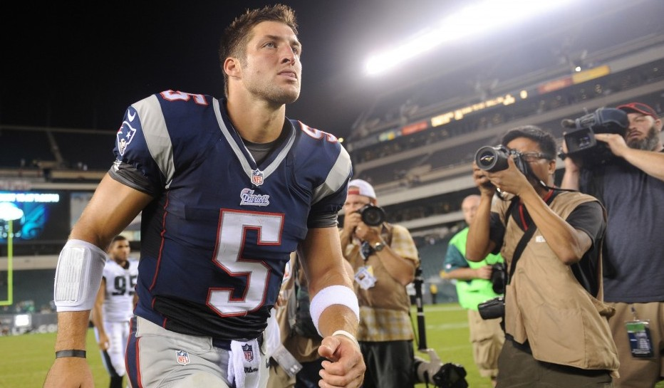 Tim Tebow. Photo courtesy of USA Today.