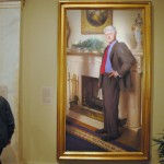 Bill Clinton portrait hanging at the National Portrait Gallery in D.C. | Size-altered photo from Hrag Vartanian on Flickr