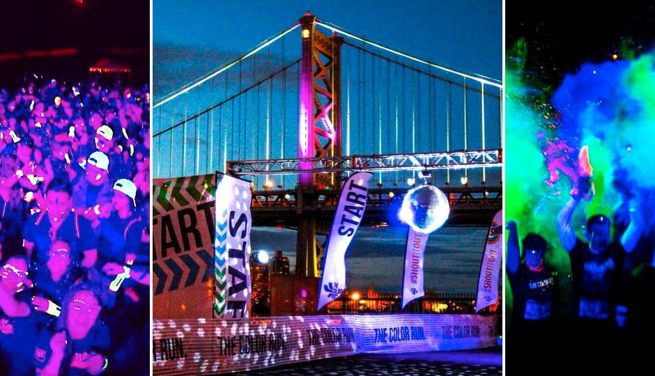 The Color Run Night Philadelphia | Photos via Instagram