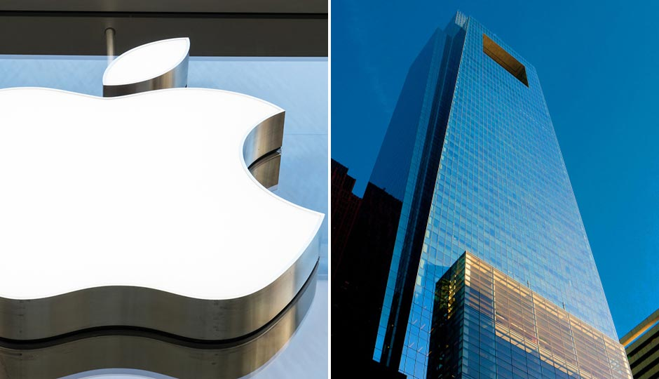 Apple logo FooTToo / Shutterstock.com | Comcast Center, Jeff Fusco