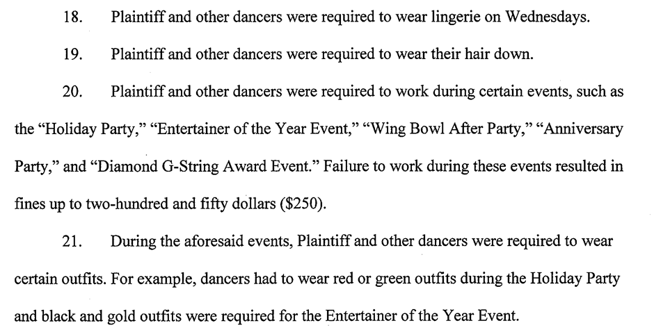 Some allegations from the lawsuit filed against Delilah's Den last month.
