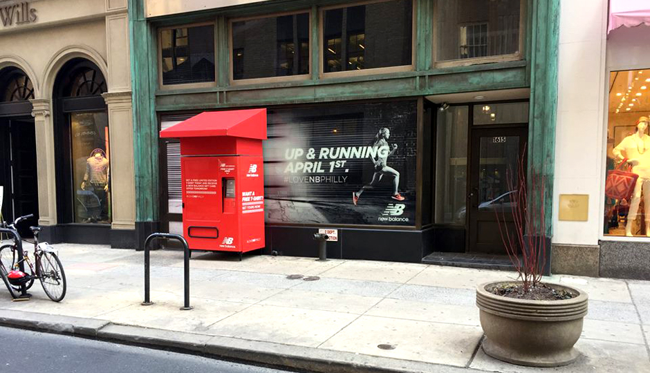 85f0c466b74dc Philly New Balance Store Is Giving Away Free T-Shirts from a Vending ...