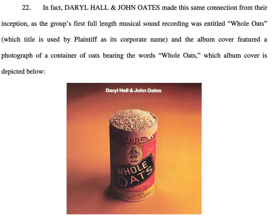 Hall Oates File Lawsuit Against Haulin Oats Granola