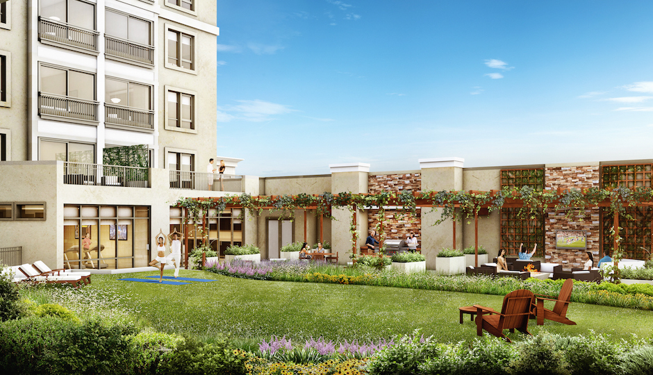 Rooftop rendering of One Ardmore Place   Image courtesy of Dranoff Properties.
