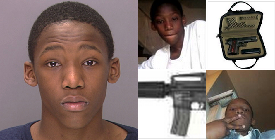 Left: Tyfine Hamilton in a photo from a previous arrest. Right: An array of 2010 images from his Facebook page.
