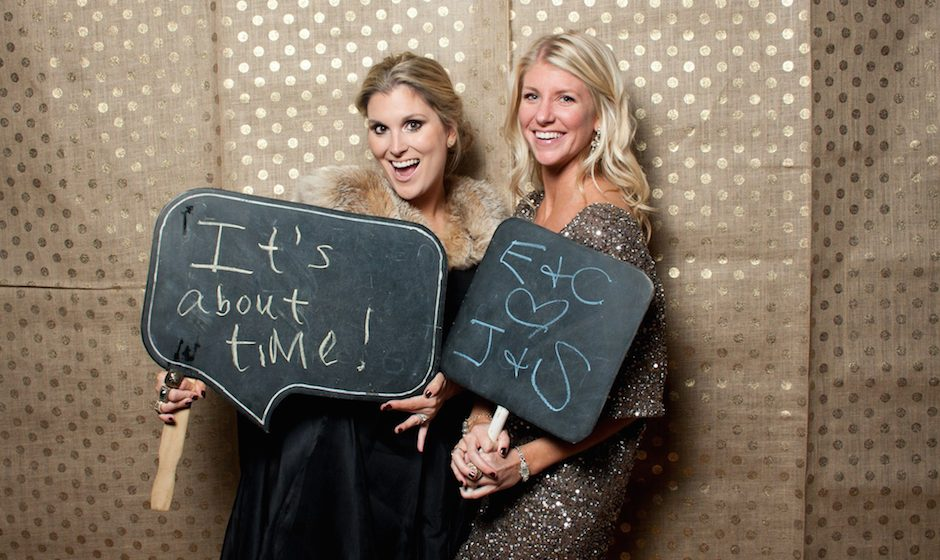 Philly Mag Lifestyle Editor Emily Goulet And Pw S Carrie Denny Hopped In The Photo Booth