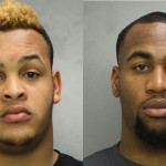 Dion Dawkins (l) and Haason Reddick (r) in Philadelphia Police Department photos.