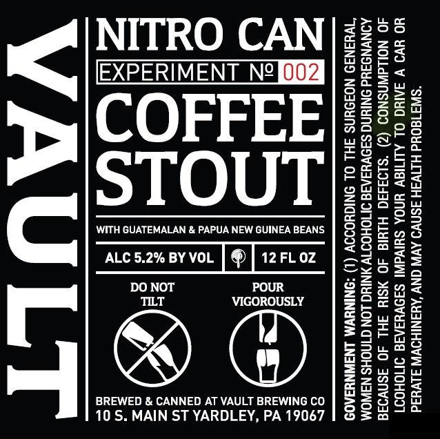 The Vault Coffee Stout Nitro Can Design