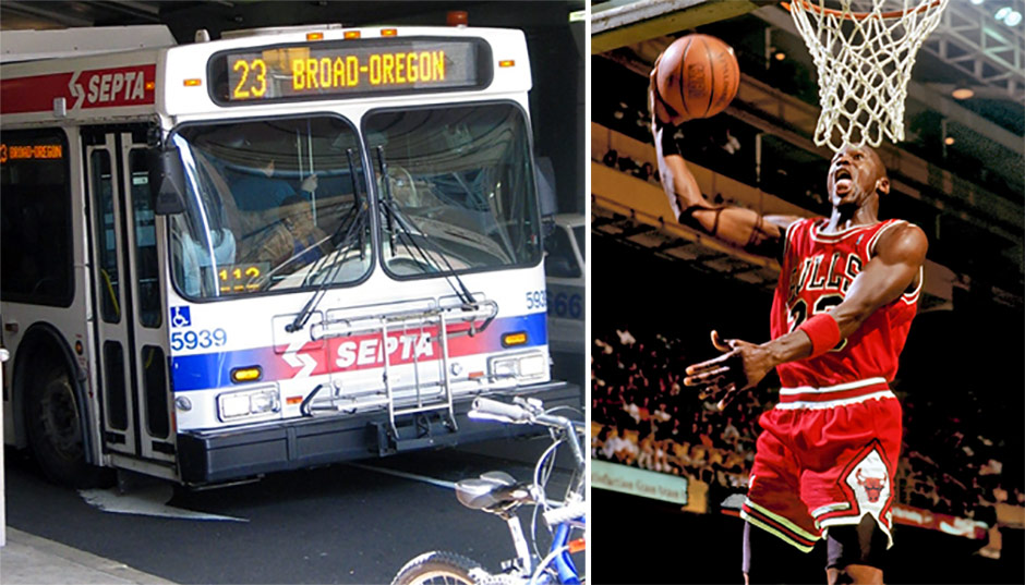 SEPTA Route 23 Bus and Michael Jordan