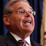 U.S. Sen. Bob Menendez speaks during a news conference, Wednesday, April 1, 2015, in Newark, N.J. Menendez, the top Democrat on the U.S. Senate Foreign Relations Committee, was indicted on corruption charges, accused of using his office to improperly benefit an eye doctor and political donor.