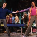 Steven Booth, left, with the 'Kinky Boots' cast.