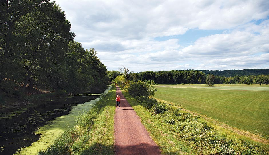 The Delaware Canal towpath. Photograph by Steve Boyle