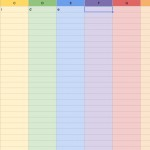 Rainbow spreadsheet