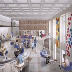 Rendering of Parkway Central Library common room