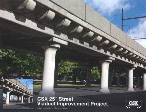 The 25th Street Viaduct, as planned by 2020 | Rendering: CSX