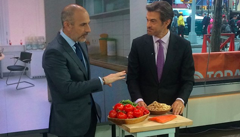 Dr. Oz, seen here with Today show anchor Matt Lauer, is under attack for promoting questionable medical treatments.