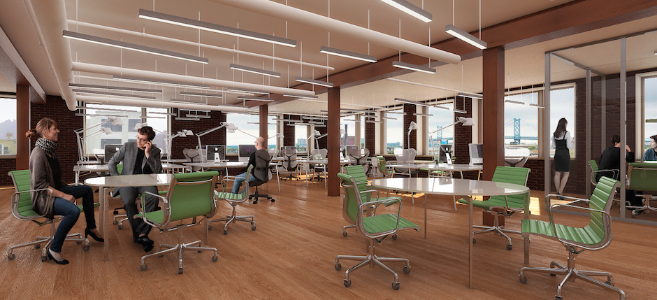 Rendering of the office space