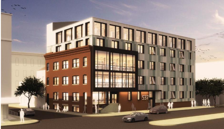 New look Finnigan's Wake | Rendering via Atkin Olshin Schade Architects and Stockton Real Estate Advisors