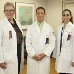 Dr. Sharon Butterworth, Dr. David Jaspen and physicians assistant Michele Style at the clinic in Mt. Airy.