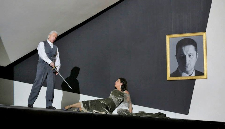 Dmitri Hvorostovsky and Sondra Radvanovsky in the Met Opera's 'Un Ballo in Maschera.'