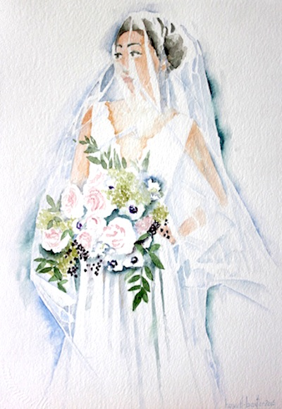 Here's one of Howell-Baxter's bridal portraits.