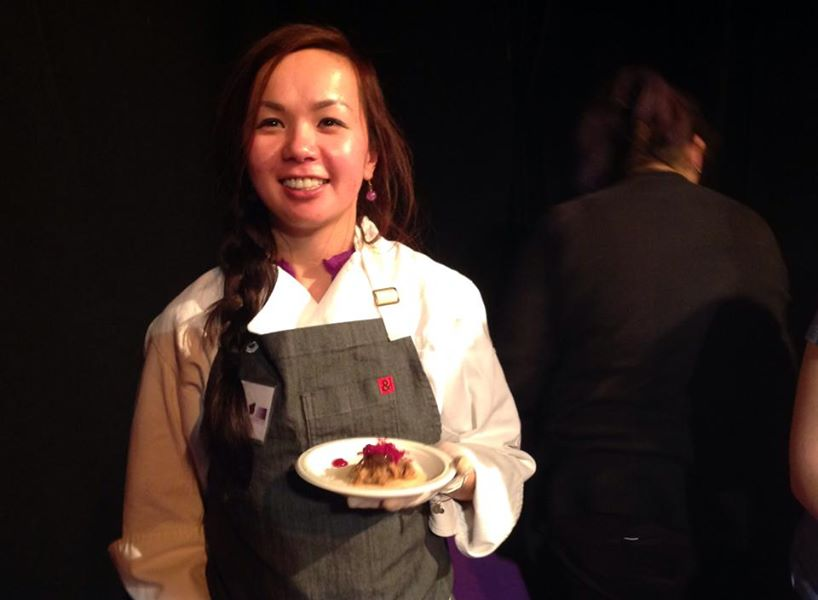 Carolyn Nguyen at Dish It Up | Photo via Women Against Abuse