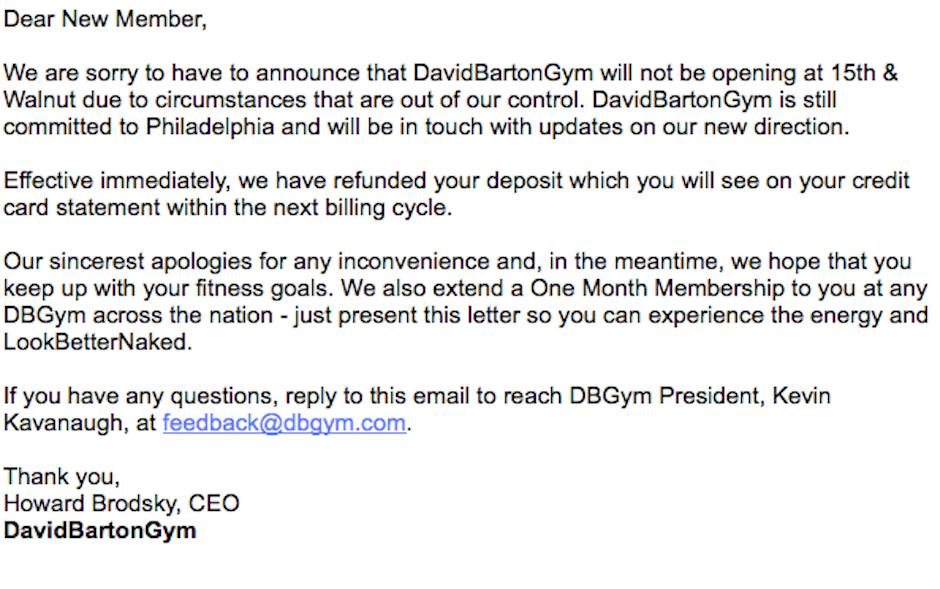 David Barton Gym Scraps Plans for 15th and Walnut Location ...