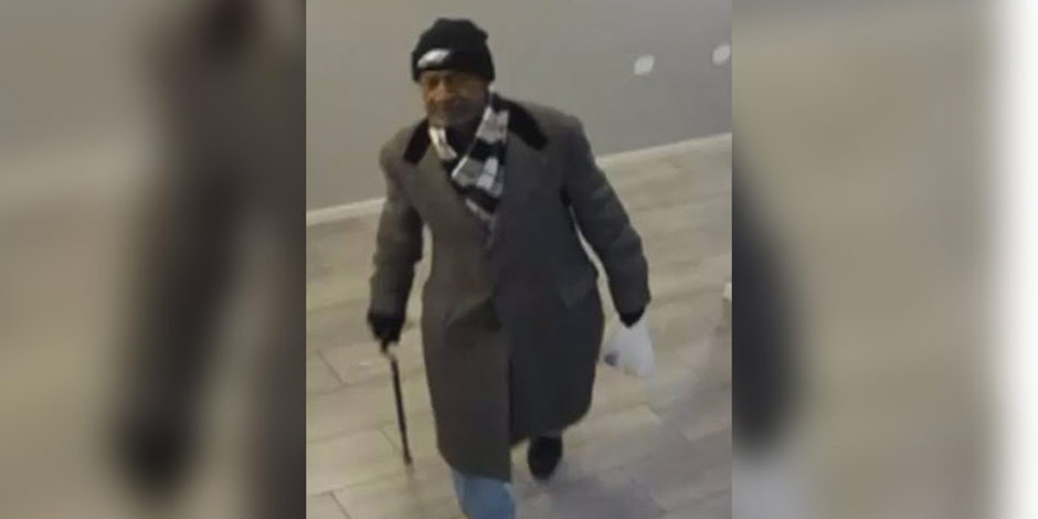 Alleged Thief in Eagles Hat