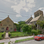 Former parish house (left) and former Saint Peter's Church of Christ (right) at 47th and Kingsessing | Image via Google Street View