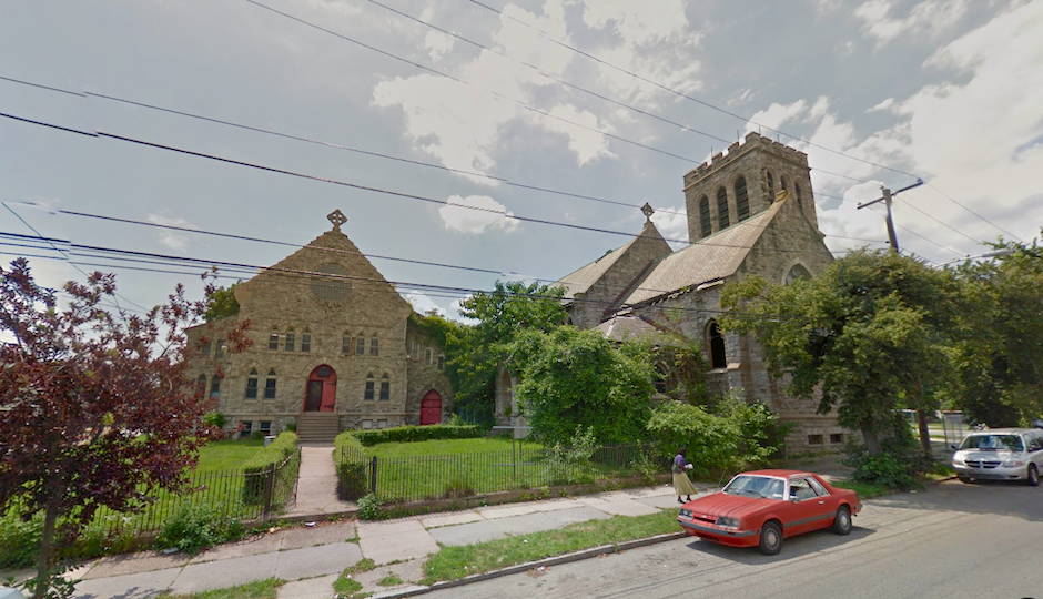 Former Saint Peter's Church of Christ (right) and its parish house (left) | Image via Google Street View