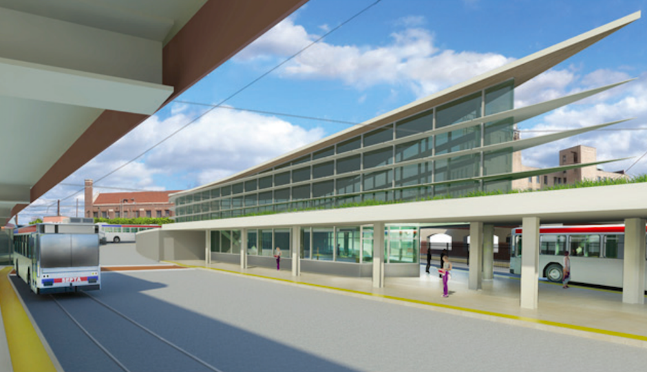 2012 rendering of a renovated North Platform at 69th Street Transportation Center | Image by Sowinski Sullivan Architects via SEPTA.com