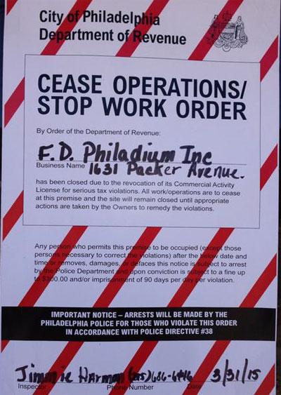 philadium-cease-operations