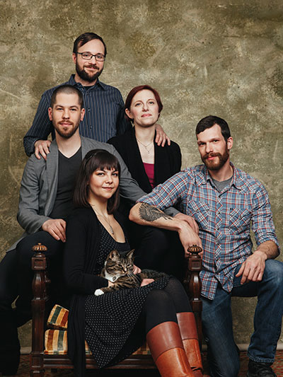 FAMILY PORTRAIT: Clockwise from top left: Phillip, Mae, Jon, Tiffany and Josh. Photo | Gene Smirnov