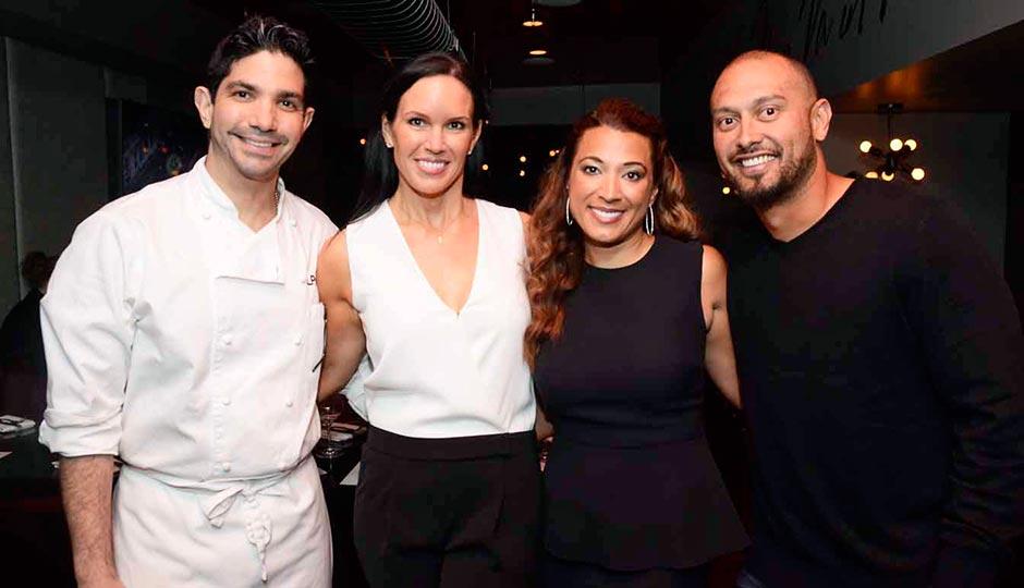 Chef Luke Palladino, Kristine Kurilko, Melissa and Shane Victorino.